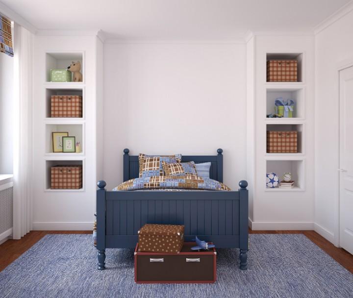 Zdjęcie Ustawienie łóżka W Małej Sypialni Według Feng Shui