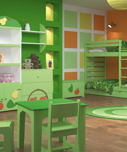Zdjęcie nr 2: Zielony pokój dziecięcy - galeria - Projekt pokoju dla dziecka - Pokój dla dziecka ...