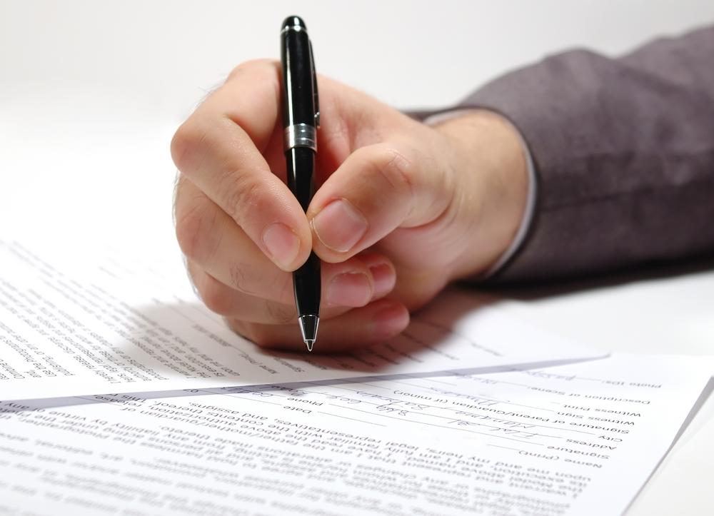Podpis pod deklaracją podatkową